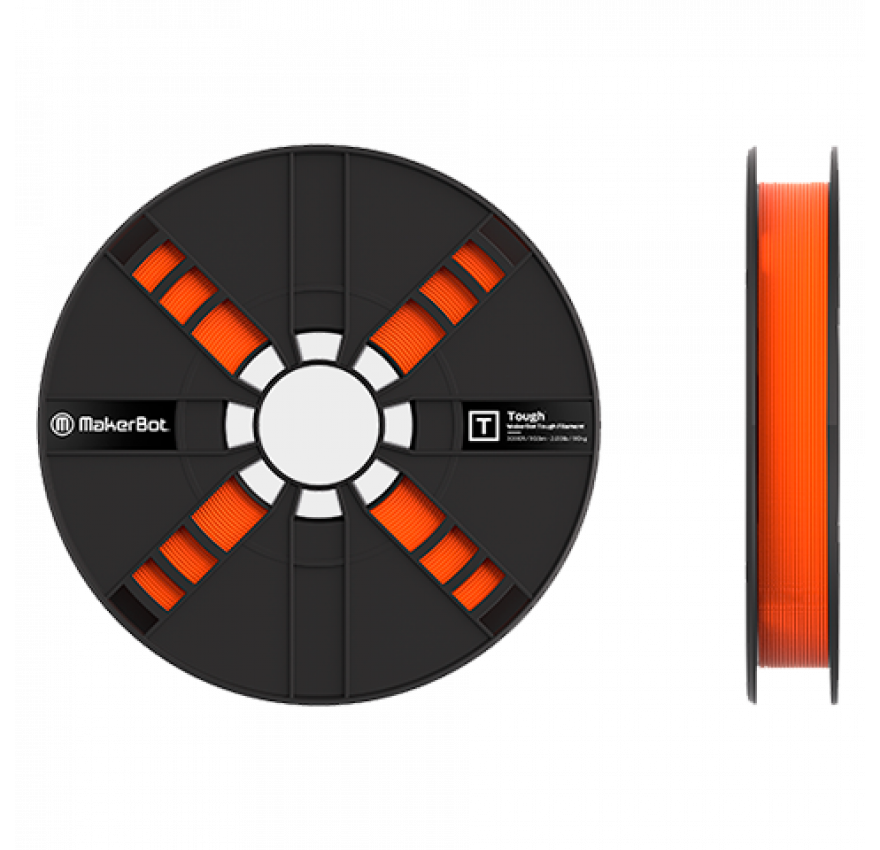 Filamento Tough 900g Safety Orange Replicator+ / Replicator 5th-Gen / Z18